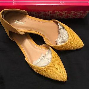 Yellow Dor'say Raffia Flats size 8.5